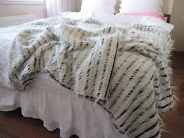 bed scarf shabby chic faux fur bedding luxury ivory faux fur