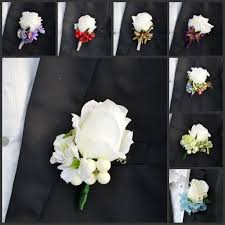 Cheap Corsages 2015 New Wedding Dresses Flowers Real Touch Rose Corsages Handmade
