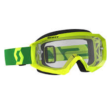 scott motocross goggles scott goggle hustle mx yellow green clear works 2018 maciag