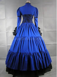 Blue Black Halloween Costumes Black Victorian Inspired Dress Masquerade Gothic Ball Gowns