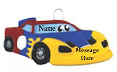 personalized transportation ornaments transportation