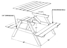 Free Small Hexagon Picnic Table Plans by Build A Picnic Table From Five Easy Pieces Diy Mother Earth News