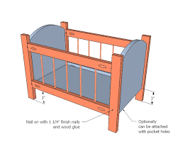 Wood Dollhouse Furniture Plans Free by Ana White Build A Fancy Baby Doll Crib Free And Easy Diy
