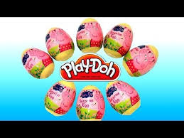 Easter Egg Decorating Pig by Play Doh Peppa Pig Surprise Eggs 2014 Easter Holiday Edition Make