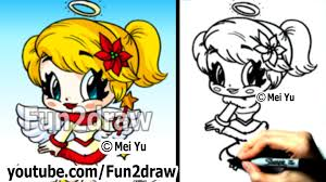 how to draw christmas chibi how to draw an angel draw people