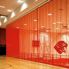 Basketball Curtains Walk Draw Gym Divider Curtains Draper Inc
