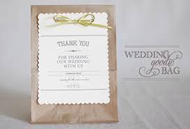 wedding goodie bags favors