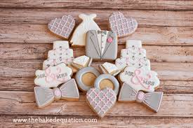 wedding cookies bridal shower cookies the baked equation