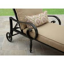Cast Aluminum Lounge Chairs Better Homes And Gardens Englewood Heights Ii Aluminum Chaise
