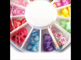 nail art accessories slices rhinestones in wheels youtube