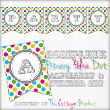printable alphabet bunting banner birthday banner archives the cottage market