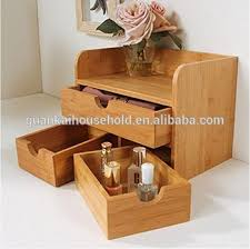 Bamboo Desk Organizer Bamboo Desktop Organizer 3 Tier Mini Desk Makeup Organizer With
