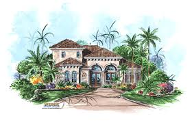 mediterranean house plan narrow lot floor plan for waterfront lot