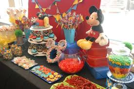 Candy For A Candy Buffet by 37 Adorable Mickey Mouse Birthday Party Ideas