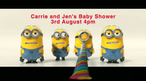 minions baby shower minions commercial for baby shower