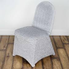spandex banquet chair covers metallic glittering silver shiny spandex banquet chair cover party