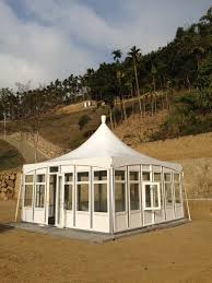 6m x 6m standard glass wall tent high quality 6m x 6m standard