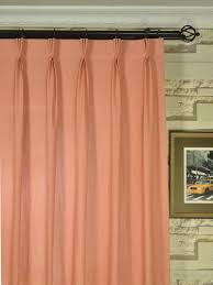 qyk246sek eos linen red pink solid triple pinch pleat sheer