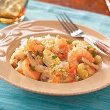shrimp and artichoke casserole artichoke shrimp bake recipe taste of home