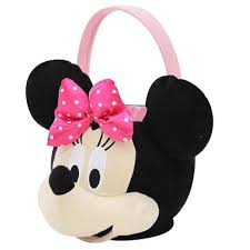 minnie mouse easter baskets easter minnie mouse medium plush basket target