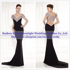 Dinner Dresses Sell Luxury Beaded Black Mermaid Evening Dress Dinner