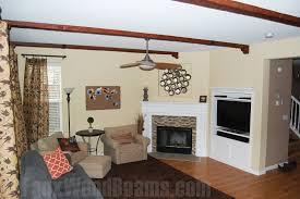 diy living room makeovers with beams faux wood workshop