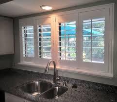 kitchen window shutters interior plantation shutters kitchen window window tinting