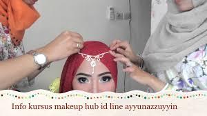 tutorial makeup natural hijab pesta tutorial hijab pesta simple kursus makeup ayyun youtube