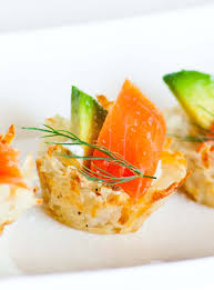 food canapes potato canapés with avocado and salmon tatyanas everyday food