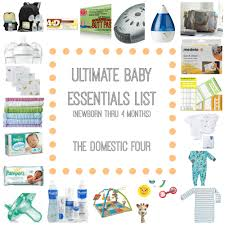 baby essentials the ultimate baby essentials list the domestic four