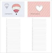 Free Birthday Calendar Template Excel Birthday Calendar 43 Calendar Template Free Premium Templates