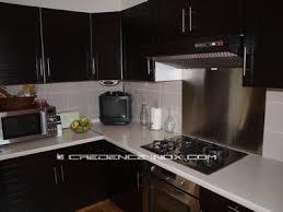 plaque inox cuisine plan de travail et crédence décoration cuisine
