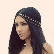 bohemian headbands fashion tassel chain bridal hair band headband