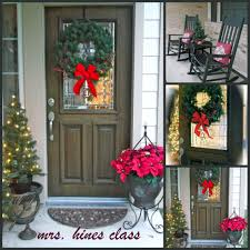 decoration artistic picture of christmas front porch decoration