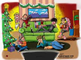 family christmas eve cartoon cartoon