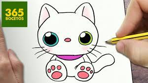imágenes de gatos fáciles para dibujar como dibujar gato kawaii paso a paso dibujos kawaii faciles how