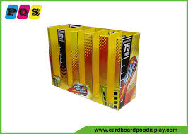 ring pop boxes corrugated pdq retail packaging boxes vertical dividers for sky
