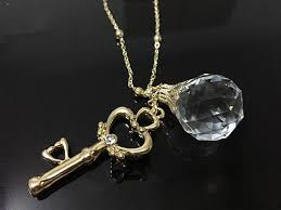 crystal ball necklace images Sailor moon gold chain crystal ball key pendant necklace japan jpg