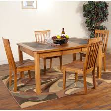 Rustic Oak Dining Tables Sedona Slate Top Dining Table Chairs In Rustic Oak Humble Abode