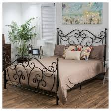 Metal Frame Bed Queen Lorelei Metal Bed Frame Queen Dark Bronze Christopher Knight