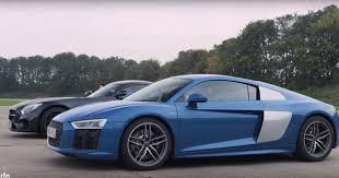 Audi R8 V10 - 2017 audi r8 v10 vs mercedes amg gt s drag race ends with
