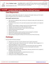 restaurant survey system with location based technology