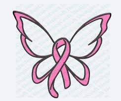 breast cancer ribbon butterfly svg cut file svg dxf png eps