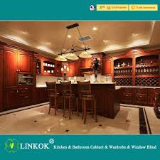 Chinese Made Kitchen Cabinets Linkok Furniture Dark Brown Solid Wood Kitchen Cabinets Modular