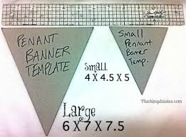 creating a pennant template for large pennants measure 6 in