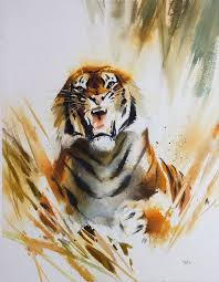 the 25 best watercolor tiger ideas on pinterest tiger