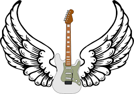 guitar with wings clip at clker com vector clip
