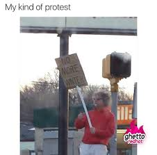 Winter Meme - my kind of protest ghetto red hot