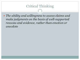 Critical Thinking in Psychology process of critical thinking in     critical thinking           jpg