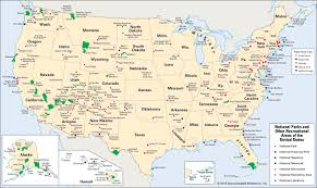 Image Of United States Map Map Of United States National Parks All World Maps